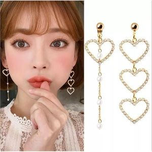 Maggie Asymmetrical Heart Earrings